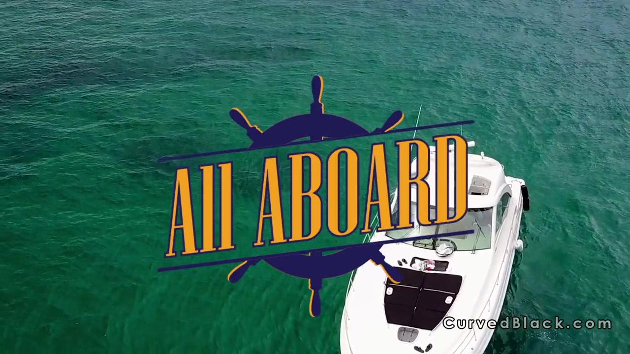 Ebony captain fucks client on the boat