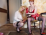 MILFs Lucy and Red give guy JOI while fucking their cunts