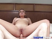 Young Serena leaves college to fuck big cock in audition