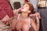 Raquel Devine Two Big Cocks