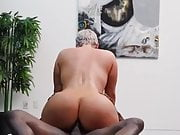 Big butt babe begs BBC for booty hole creampie