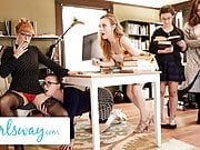 GIRLSWAY Hot Threesome At The Library With Penny Pax & Karla