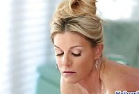 Blonde milf fucked after hot massage