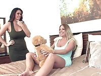 Alison and Britney Amber play with each other