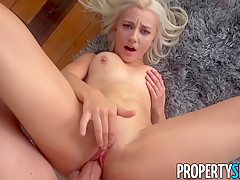 Leggy Blonde Agent Jade Amber Fucks Rich Dude