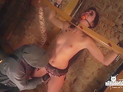 BADTIME STORIES – Intense BDSM session with beautiful German slave babe Lullu Gun