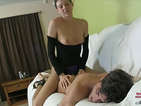 Sadie Holmes's Sorority Ass Slut PEGGING LEOTARD NYLONS