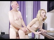 Her first real boyfriend is an old perv