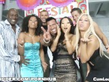 Asa Akira goes wild with Bridgette B , Emy Retyes and Misty Stone